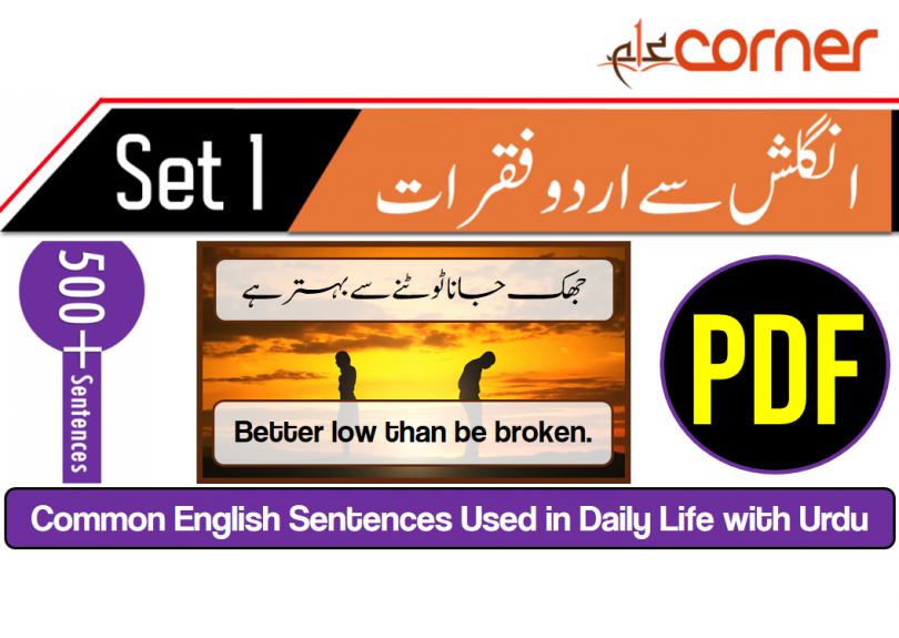 English to Urdu Sentences | Spoken English Set 1, With PDF