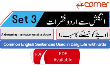 English to Urdu Sentences Spoken English Set 3, With PDF