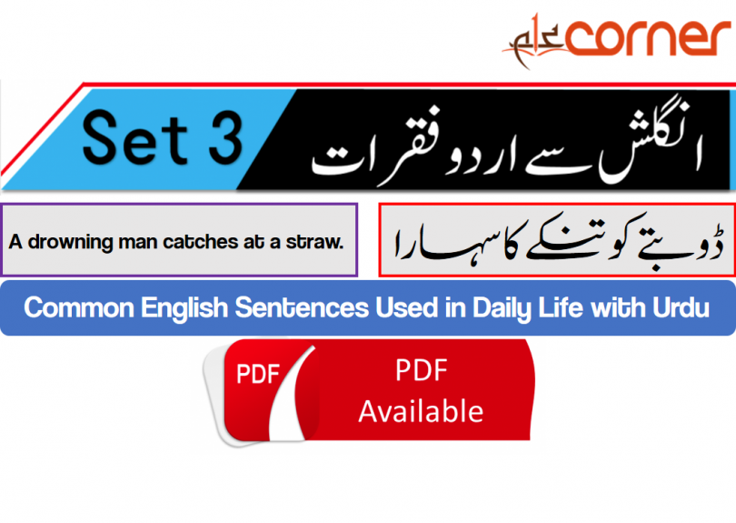 English to Urdu Sentences Spoken English Set 3, With PDF