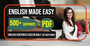 English to Urdu Sentences | Spoken English Set 15, With PDF