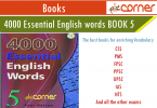 4000 important English Vocabulary book 5 for IELTS and TOEFL learner pdf download free. Essential English Vocabulary for CSS, PMS, FPSC, UPSC, IAS
