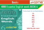 4000 important English words book 6 for CSS, PMS, FPSC, UPSC, IAS, IELTS, TOEFL learner pdf download free. Essential English Vocabulary