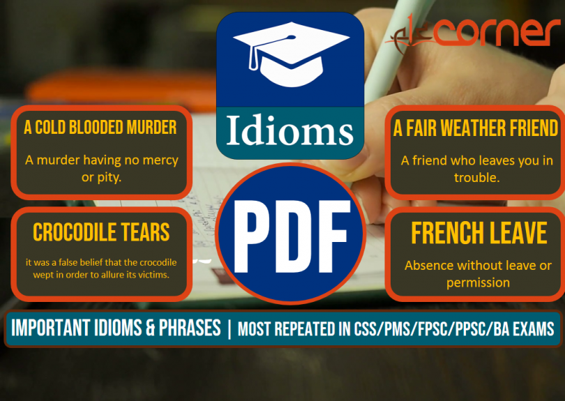 Important Idioms and Phrases, Set-3 | Most Repeated in CSS/PMS/FPSC/PPSC/BA Exams