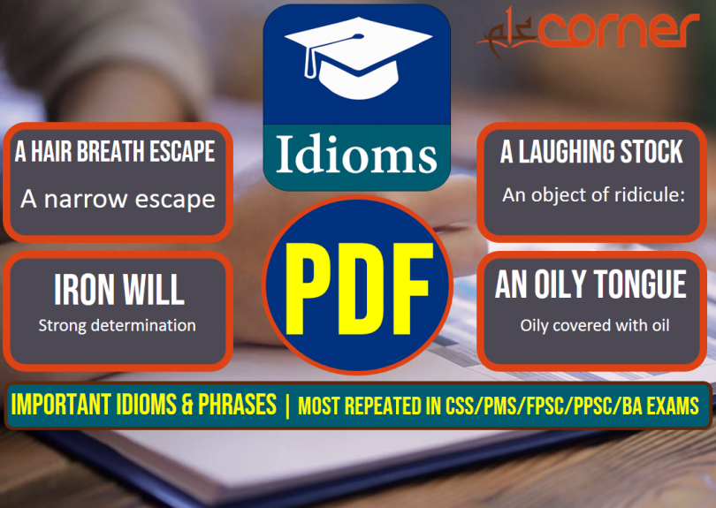 Important Idioms and Phrases, Set-4 | Most Repeated in CSS/PMS/FPSC/PPSC/BA Exams