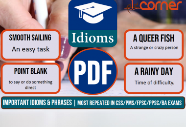Important Idioms and Phrases, Set-5 | Most Repeated in CSS/PMS/FPSC/PPSC/BA Exams