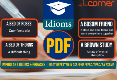 Important Idioms and Phrases, Set-7 | Most Repeated in CSS/PMS/FPSC/PPSC/BA Exams