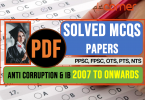 Anti Corruption and Intelligence bureau | SolvedMCQs papers