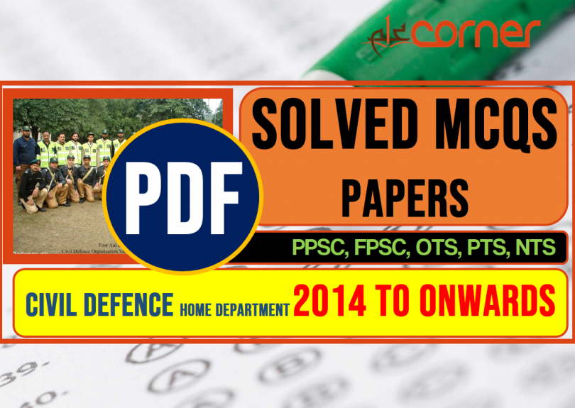 Civil Defence home department | SolvedMCQs papers