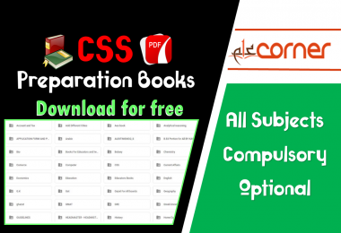 CSS Preparation books for download PDF for free. Compulsory and optional subjects books for css preparation. English, Geography, Current affairs, US History