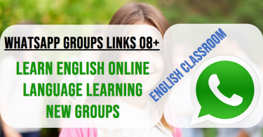 English classroom Whatapps groups