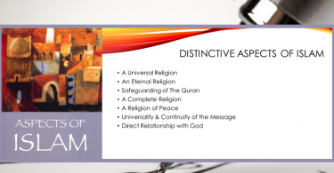 Distinctive aspects of Islam
