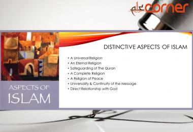 Distinctive aspects of Islam