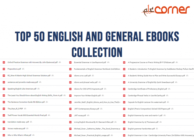 Top 50 English and General eBooks collection