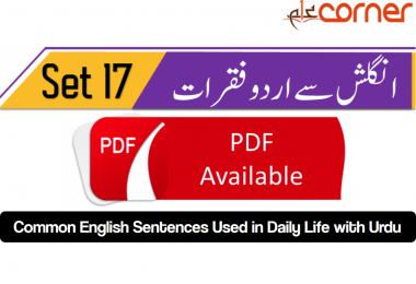 English to Urdu Sentences Spoken English 17