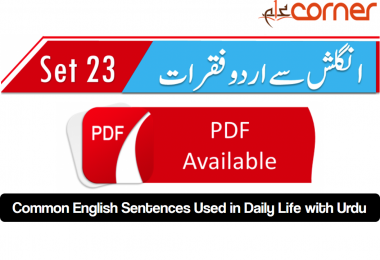 English to Urdu Sentences Spoken English 23