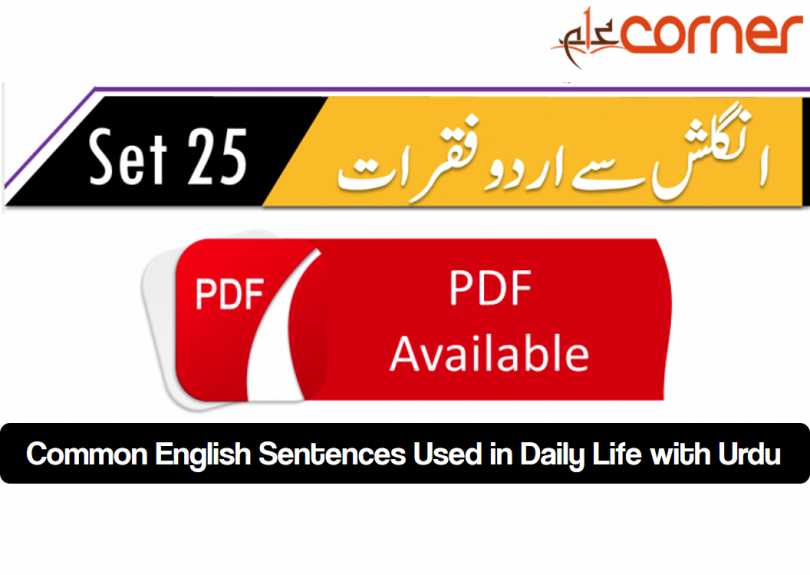 English to Urdu Sentences Spoken English 25
