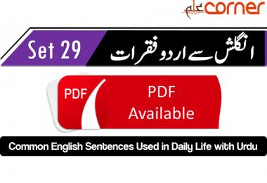 English to Urdu Sentences Spoken English 29