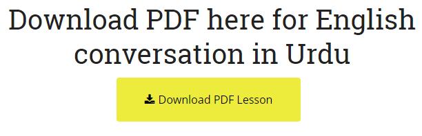 Download in PDF, English to Urdu Sentences Spoken English