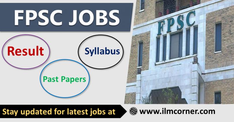 FPSC Jobs Apply online - FPSC Result, Syllabus, Past papers