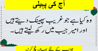 Riddles in urdu for genius