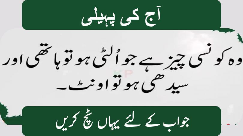 Interesting Urdu Paheliyan with Answer
